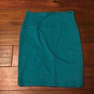 Teal green bodycon skirt